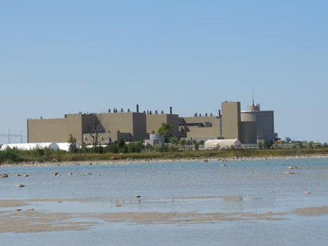 Bruce A reactor as seen from Lake Huron.
