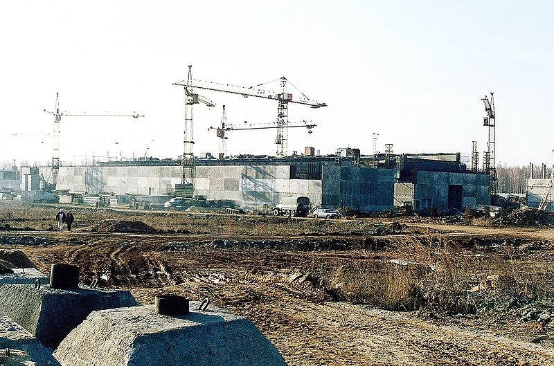 The Mayak Fissile Material Storage Facility, with concrete blocks in foreground
