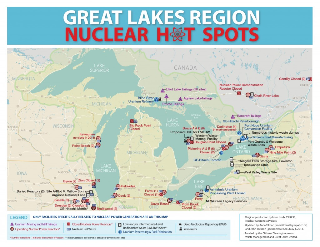 Nuclear map of the Great Lakes